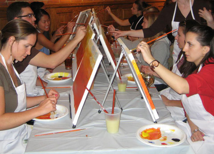 Artists painting